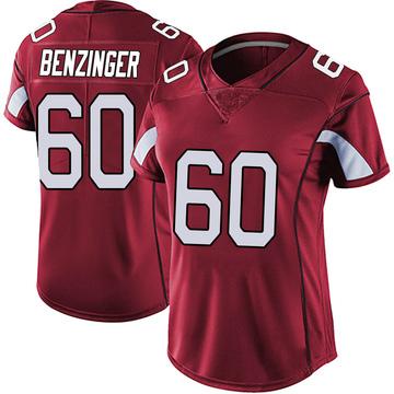 Women's Nike Arizona Cardinals Jake Benzinger Red Vapor Team Color Untouchable Jersey - Limited