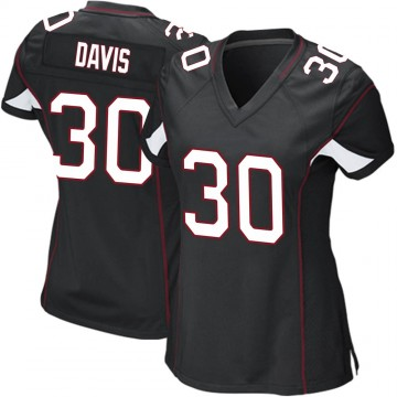 Women's Nike Arizona Cardinals Jalen Davis Black Alternate Jersey - Game