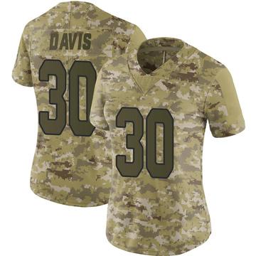 Women's Nike Arizona Cardinals Jalen Davis Camo 2018 Salute to Service Jersey - Limited