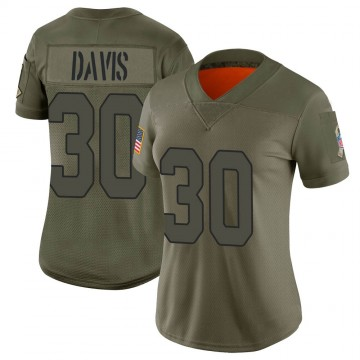 Women's Nike Arizona Cardinals Jalen Davis Camo 2019 Salute to Service Jersey - Limited