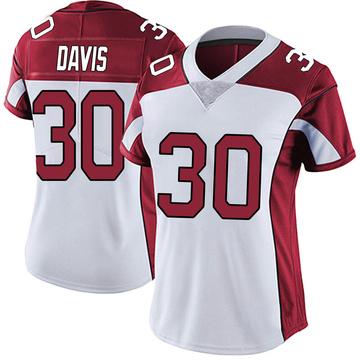 Women's Nike Arizona Cardinals Jalen Davis White Vapor Untouchable Jersey - Limited
