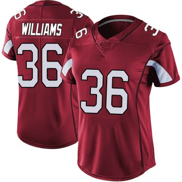 Women's Nike Arizona Cardinals Jarren Williams Red Vapor Team Color Untouchable Jersey - Limited