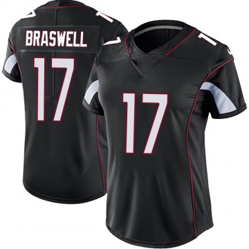 Women's Nike Arizona Cardinals Jermiah Braswell Black Vapor Untouchable Jersey - Limited