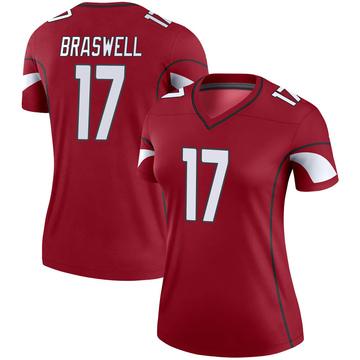 Women's Nike Arizona Cardinals Jermiah Braswell Cardinal Jersey - Legend