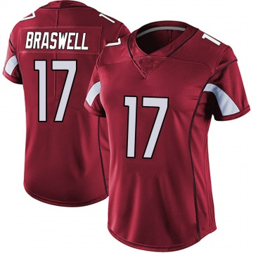 Women's Nike Arizona Cardinals Jermiah Braswell Red Vapor Team Color Untouchable Jersey - Limited