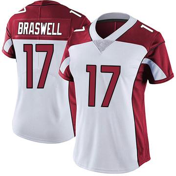 Women's Nike Arizona Cardinals Jermiah Braswell White Vapor Untouchable Jersey - Limited