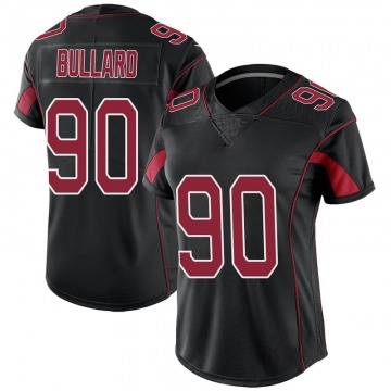 Women's Nike Arizona Cardinals Jonathan Bullard Black Color Rush Jersey - Limited