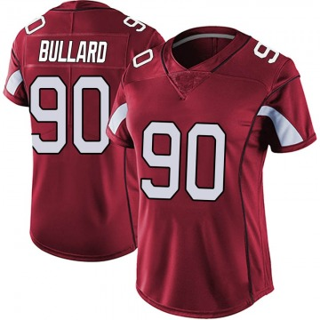 Women's Nike Arizona Cardinals Jonathan Bullard Red Vapor Team Color Untouchable Jersey - Limited