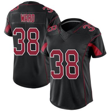 Women's Nike Arizona Cardinals Jonathan Ward Black Color Rush Jersey - Limited