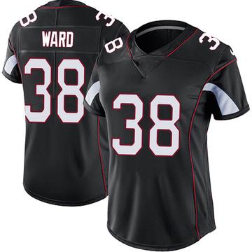 Women's Nike Arizona Cardinals Jonathan Ward Black Vapor Untouchable Jersey - Limited