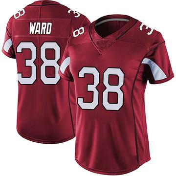 Women's Nike Arizona Cardinals Jonathan Ward Red Vapor Team Color Untouchable Jersey - Limited
