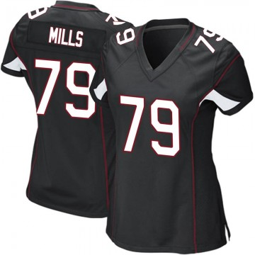 Women's Nike Arizona Cardinals Jordan Mills Black Alternate Jersey - Game