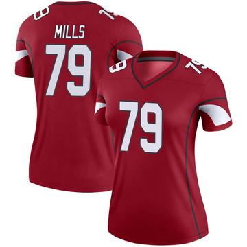 Women's Nike Arizona Cardinals Jordan Mills Cardinal Jersey - Legend