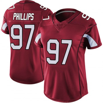 Women's Nike Arizona Cardinals Jordan Phillips Red Vapor Team Color Untouchable Jersey - Limited