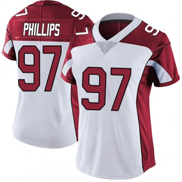 Women's Nike Arizona Cardinals Jordan Phillips White Vapor Untouchable Jersey - Limited