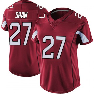 Women's Nike Arizona Cardinals Josh Shaw Red Vapor Team Color Untouchable Jersey - Limited