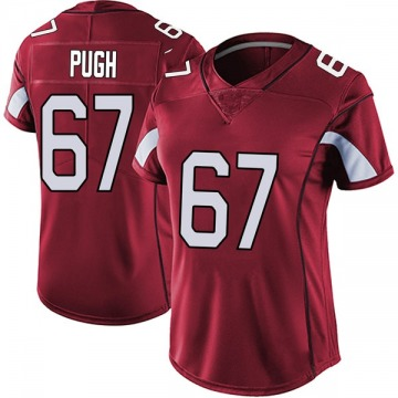 Women's Nike Arizona Cardinals Justin Pugh Red Vapor Team Color Untouchable Jersey - Limited