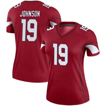 Women's Nike Arizona Cardinals KeeSean Johnson Cardinal Jersey - Legend