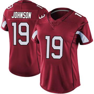 Women's Nike Arizona Cardinals KeeSean Johnson Red Vapor Team Color Untouchable Jersey - Limited