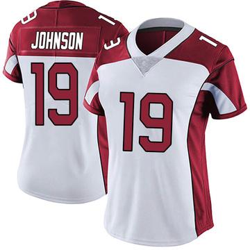 Women's Nike Arizona Cardinals KeeSean Johnson White Vapor Untouchable Jersey - Limited