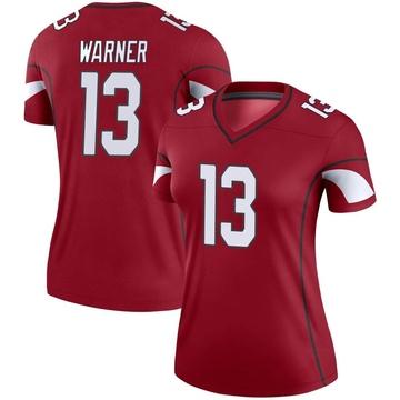 Women's Nike Arizona Cardinals Kurt Warner Cardinal Jersey - Legend