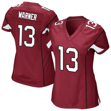 Women's Nike Arizona Cardinals Kurt Warner Cardinal Team Color Jersey - Game