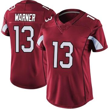 Women's Nike Arizona Cardinals Kurt Warner Red Vapor Team Color Untouchable Jersey - Limited