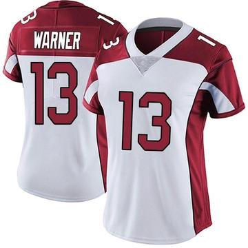 Women's Nike Arizona Cardinals Kurt Warner White Vapor Untouchable Jersey - Limited