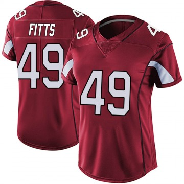 Women's Nike Arizona Cardinals Kylie Fitts Red Vapor Team Color Untouchable Jersey - Limited