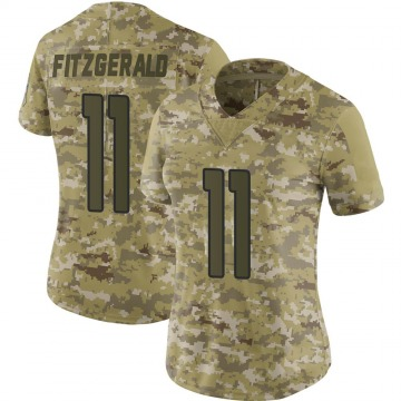 Women's Nike Arizona Cardinals Larry Fitzgerald Camo 2018 Salute to Service Jersey - Limited