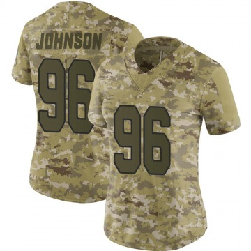 Women's Nike Arizona Cardinals Lyndon Johnson Camo 2018 Salute to Service Jersey - Limited