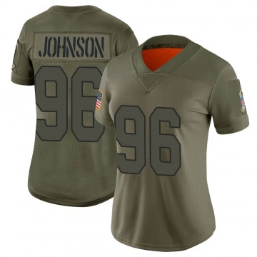 Women's Nike Arizona Cardinals Lyndon Johnson Camo 2019 Salute to Service Jersey - Limited