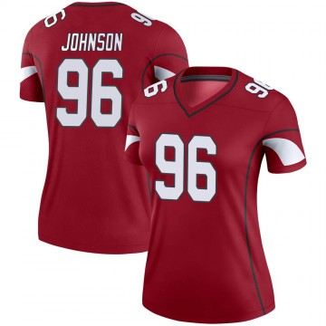Women's Nike Arizona Cardinals Lyndon Johnson Cardinal Jersey - Legend