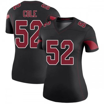Women's Nike Arizona Cardinals Mason Cole Black Color Rush Jersey - Legend