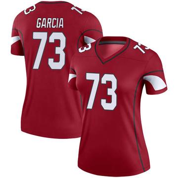 Women's Nike Arizona Cardinals Max Garcia Cardinal Jersey - Legend