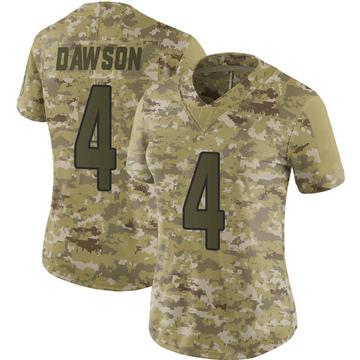 Women's Nike Arizona Cardinals Phil Dawson Camo 2018 Salute to Service Jersey - Limited
