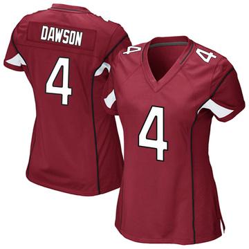 Women's Nike Arizona Cardinals Phil Dawson Cardinal Team Color Jersey - Game