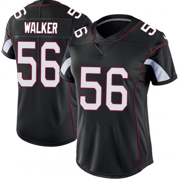 Women's Nike Arizona Cardinals Reggie Walker Black Vapor Untouchable Jersey - Limited