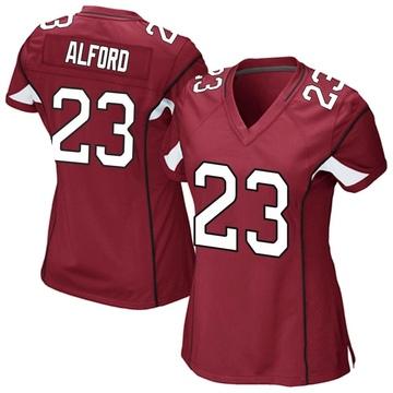 Women's Nike Arizona Cardinals Robert Alford Cardinal Team Color Jersey - Game