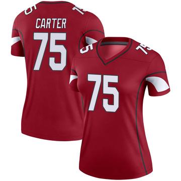 Women's Nike Arizona Cardinals T.J. Carter Cardinal Jersey - Legend