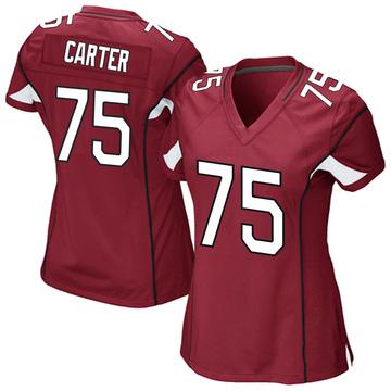 Women's Nike Arizona Cardinals T.J. Carter Cardinal Team Color Jersey - Game