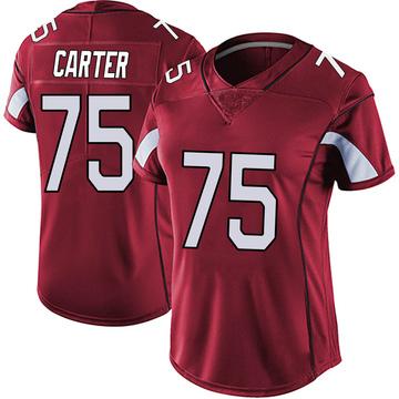 Women's Nike Arizona Cardinals T.J. Carter Red Vapor Team Color Untouchable Jersey - Limited