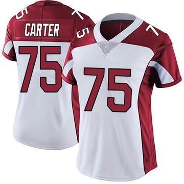 Women's Nike Arizona Cardinals T.J. Carter White Vapor Untouchable Jersey - Limited