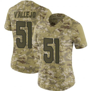 Women's Nike Arizona Cardinals Tanner Vallejo Camo 2018 Salute to Service Jersey - Limited