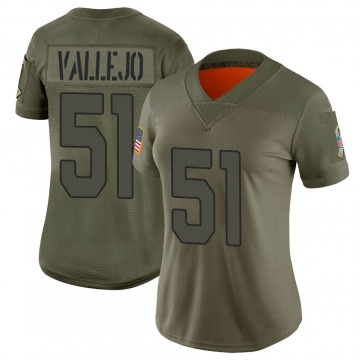 Women's Nike Arizona Cardinals Tanner Vallejo Camo 2019 Salute to Service Jersey - Limited