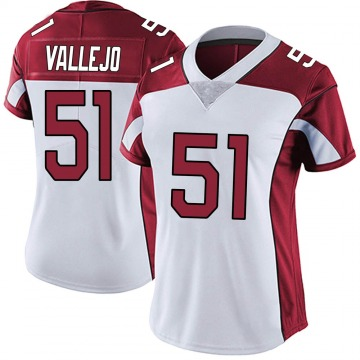 Women's Nike Arizona Cardinals Tanner Vallejo White Vapor Untouchable Jersey - Limited
