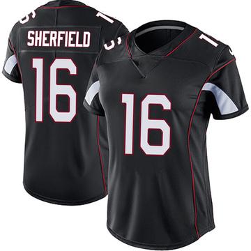 Women's Nike Arizona Cardinals Trent Sherfield Black Vapor Untouchable Jersey - Limited