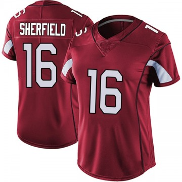 Women's Nike Arizona Cardinals Trent Sherfield Red Vapor Team Color Untouchable Jersey - Limited