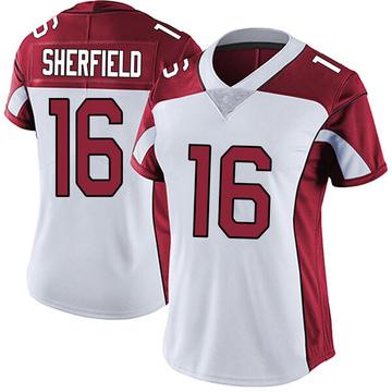 Women's Nike Arizona Cardinals Trent Sherfield White Vapor Untouchable Jersey - Limited
