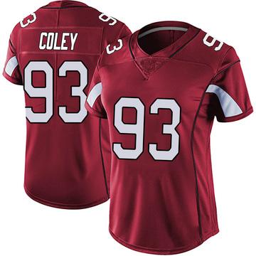 Women's Nike Arizona Cardinals Trevon Coley Red Vapor Team Color Untouchable Jersey - Limited